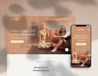 Circle studio UX/UI, web design