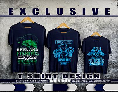 New trendy t shirt design bundle