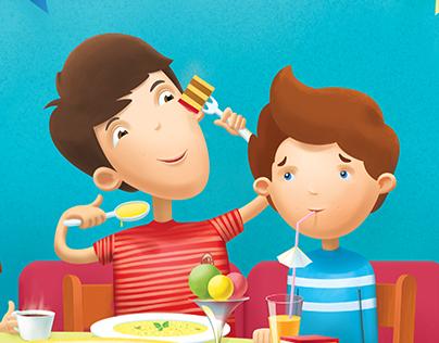 Детское меню для ресторана «Династия»
