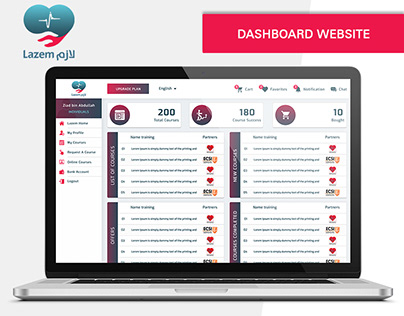UI UX Dashboard For website
