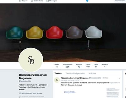 Conceptrice Rédactrice Page pro Twitter