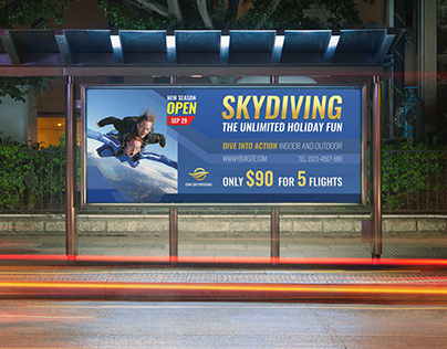 Skydiving Billboard Template