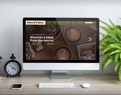 Nature's Bean Landing Page