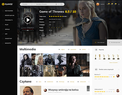 Filmweb - unofficial concept design for Product Card