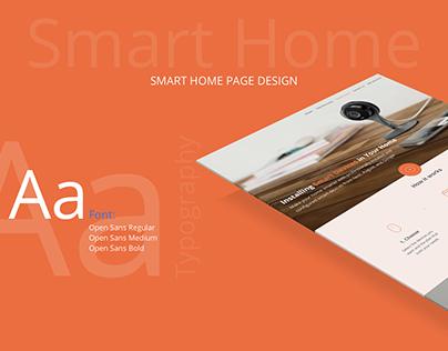Smart Home Page Website Design