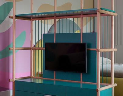TV rack for children's room