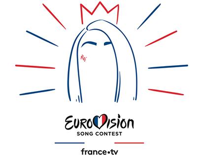 Motif t-shirt, France TV, 2019.