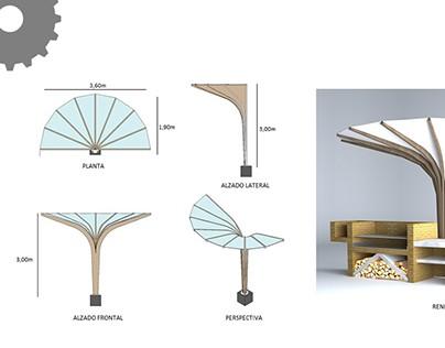 Pergola,bicycle parking and exteriorroasterdesign