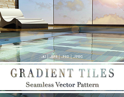 Gradient Tiles   Seamless Vector Pattern