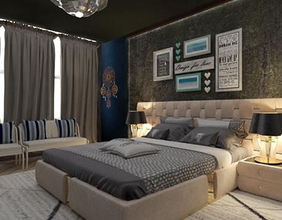 3D bedroom - Interior
