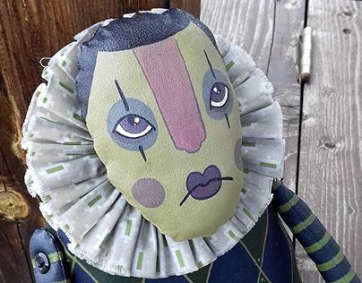 Painted Art Doll Arlecchino