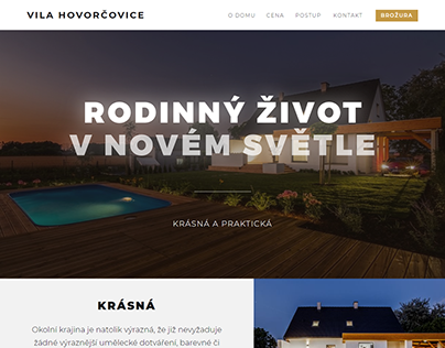 Webdesign - Vila Hovorčovice (2018)
