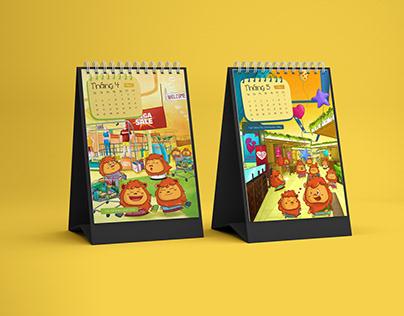Calendar 2021 design - AEONMALL HA DONG