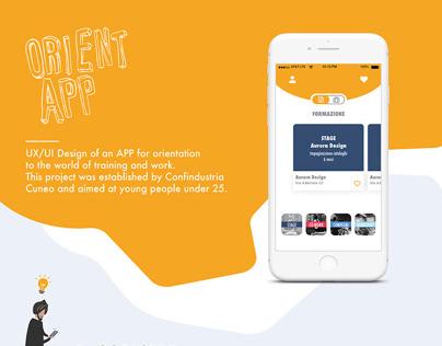 UX/UI app design - ORIENTAPP