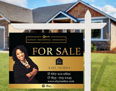 Real Estate Realtor Yard Sign Designs
