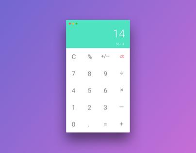 Daily UI #04 - Calculator