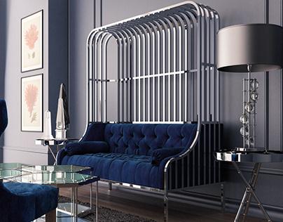 Twin Cage Sofa