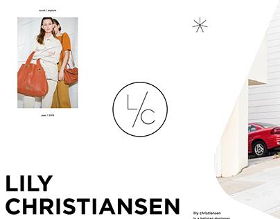 Online Store — Lily Christiansen, a Belgian Designer