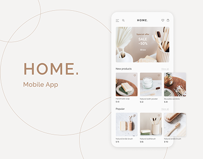 HOME. Mobile app concept