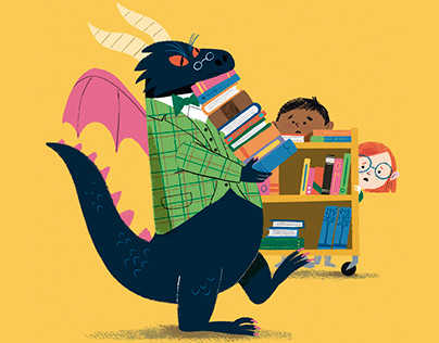 Un dragon a la bibliothèque
