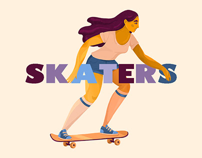 SKATERS various illustration
