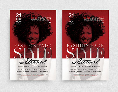 Style is Eternal Flyer Template