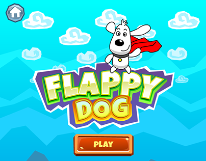 Game art: Flappy Dog (iOS)