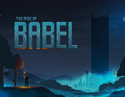 """Babel"" pixel art video game concept"