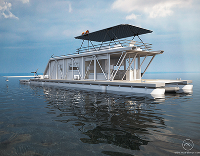 """Project of HydroHouse for a pilot of Hydroplane """"HH"""""""