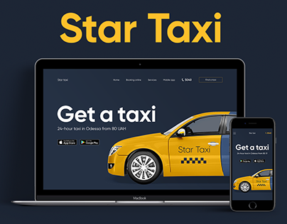 Responsive landing page for taxi service