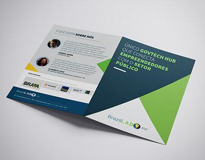 BrazilLAB: Folder e Cartão de Visita