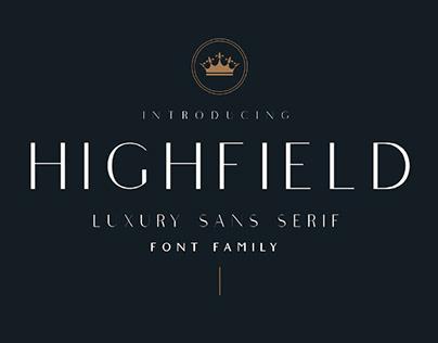 HIGHFIELD - FREE LUXURY SANS SERIF FONT