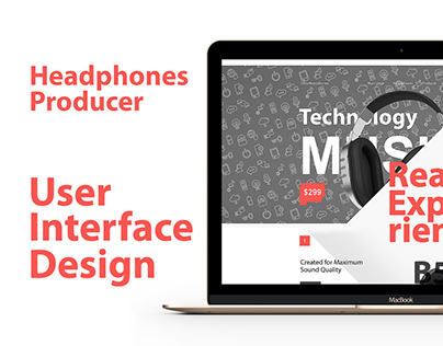 Headphone manufacturer UI Design