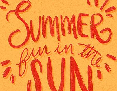 Summer Lettering Series
