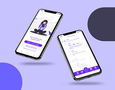 Symptom Tracker App UI Design
