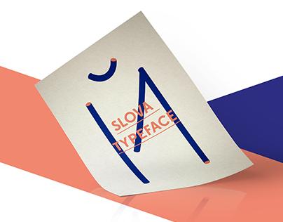 Slova Stencil Typeface