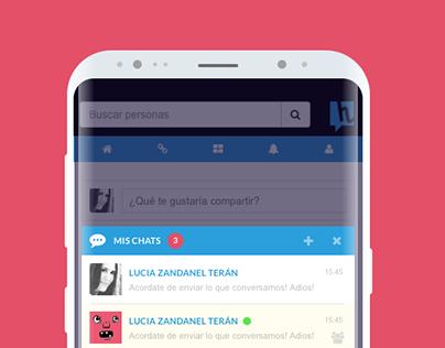 Chat para red social