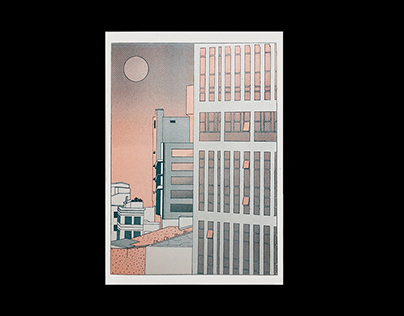 Seoul - Riso Print Poster