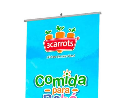 Diseño de Banner 3 CARROTS *