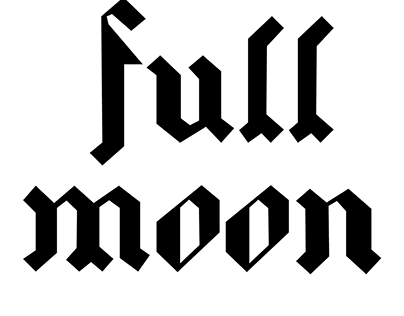 FULL MOON typography