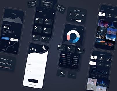 Social Media Manager app UI concept