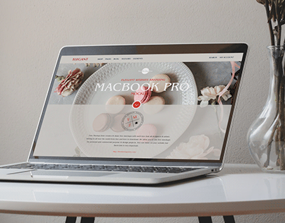 Free Elegant Website Branding MacBook Pro Mockup