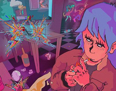 HOUSE PARTY / Digital Illustration