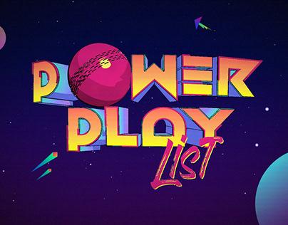 Power Play List Show Opener