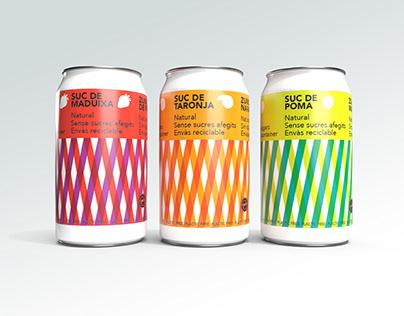 Diseño de latas para zumo de frutas