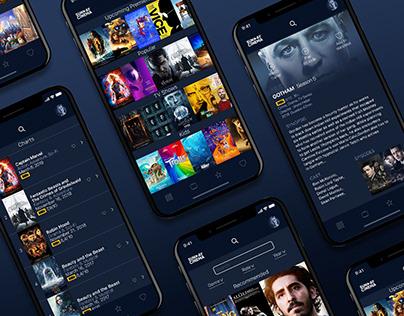 Sunday Cinema Movie App UI