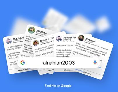 Find Me on Google Mockup For Photoshop