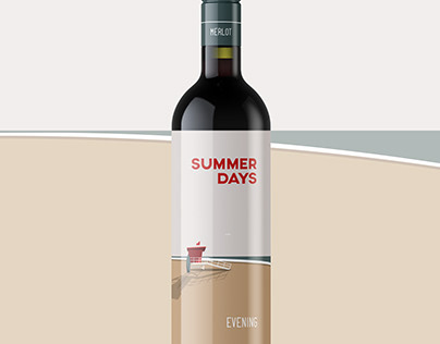 Summer Days Wine Label Design