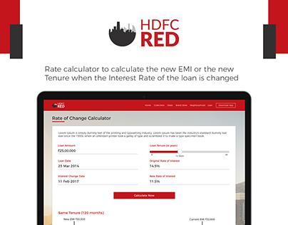 HDFC Red - EMI Change Calculator