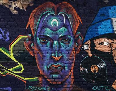 Graffiti Works - Wall Painting 2015 - 2017